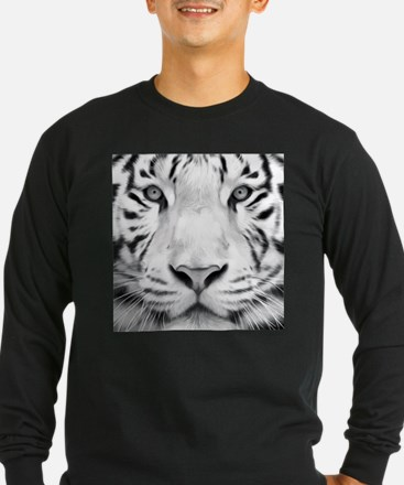 Realistic Tiger Painting Long Sleeve T-Shirt