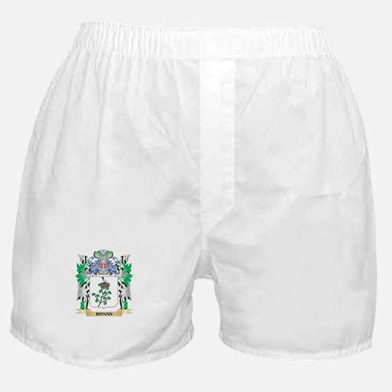 Ronan Coat of Arms - Family Crest Boxer Shorts