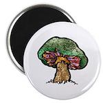 Nature Art Mushroom Design Magnet