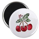 Nature Art Cherry Design Magnet