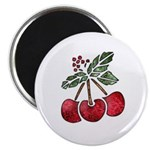 Nature Art Cherry Design Magnet