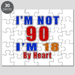 I Am Not 90 Birthday Puzzle