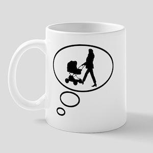 Thinking of Motherhood Mug