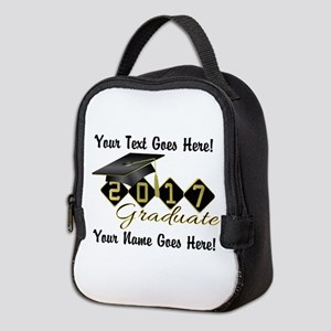 Graduate Black 2017 Neoprene Lunch Bag