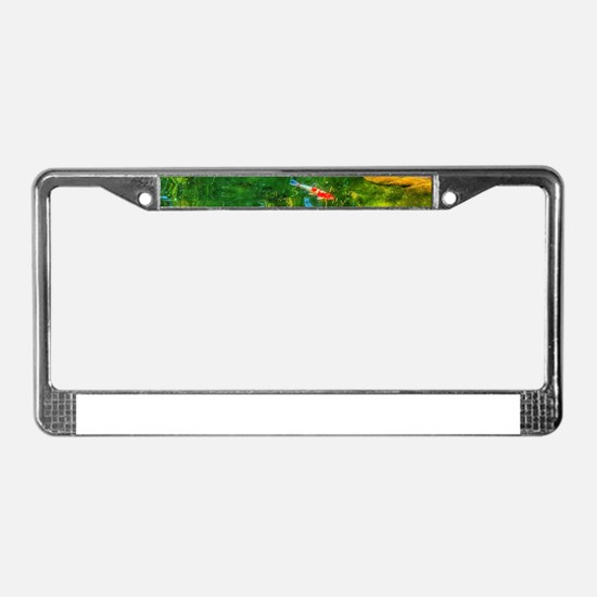 Glowing Reflecting Pond License Plate Frame