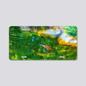 Glowing Reflecting Pond Aluminum License Plate