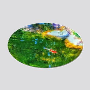Glowing Reflecting Pond Wall Decal
