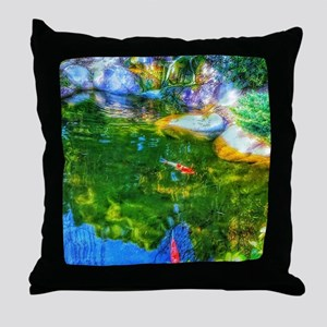 Glowing Reflecting Pond Throw Pillow