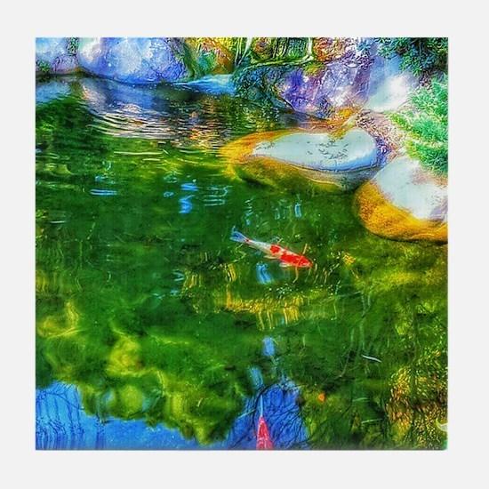 Glowing Reflecting Pond Tile Coaster