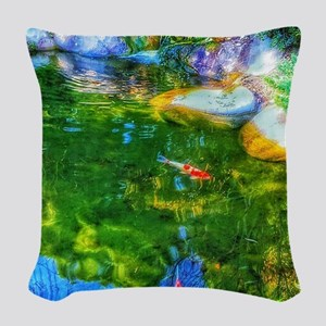Glowing Reflecting Pond Woven Throw Pillow