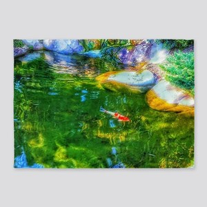 Glowing Reflecting Pond 5'x7'Area Rug