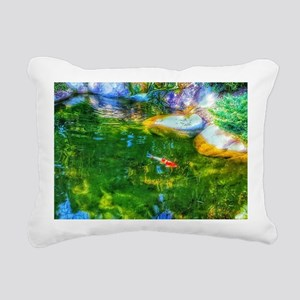 Glowing Reflecting Pond Rectangular Canvas Pillow