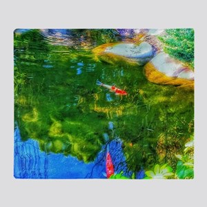 Glowing Reflecting Pond Throw Blanket