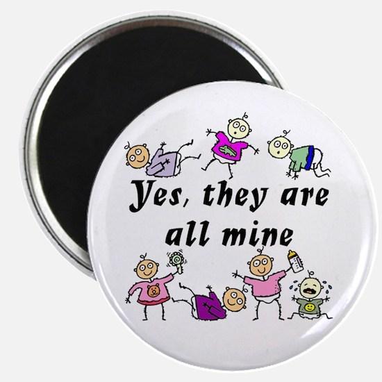 All Mine (5 Girls & A Boy) Magnet