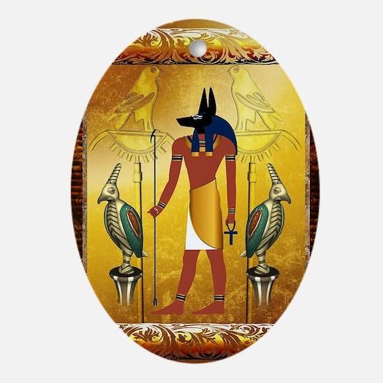 Anubis Oval Ornament