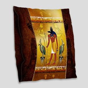 Anubis Burlap Throw Pillow
