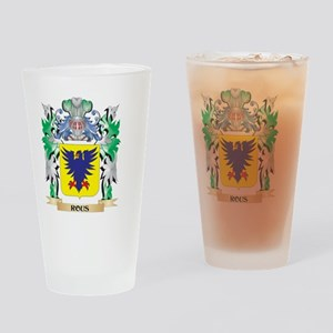 Rous Coat of Arms - Family Crest Drinking Glass