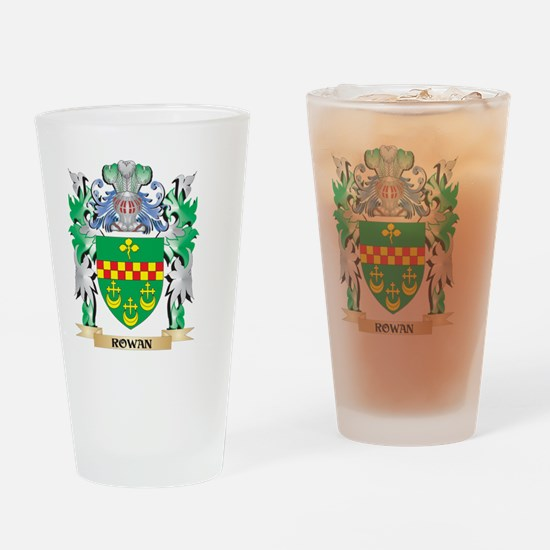 Rowan Coat of Arms - Family Crest Drinking Glass