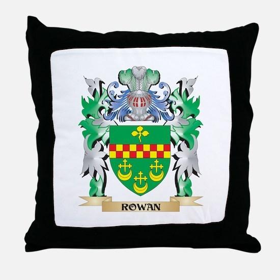 Rowan Coat of Arms - Family Crest Throw Pillow