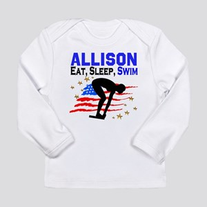 PERSONALIZE SWIMMER Long Sleeve Infant T-Shirt