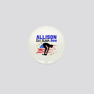 PERSONALIZE SWIMMER Mini Button