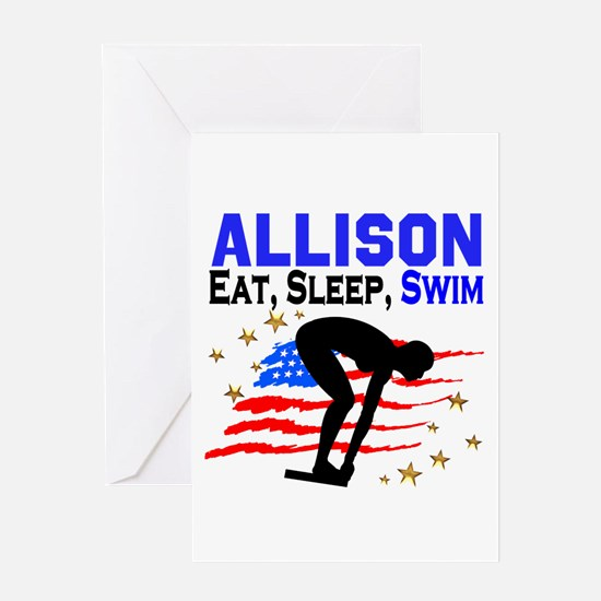 PERSONALIZE SWIMMER Greeting Card