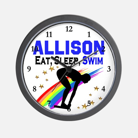 PERSONALIZE SWIMMER Wall Clock