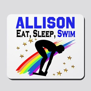 PERSONALIZE SWIMMER Mousepad