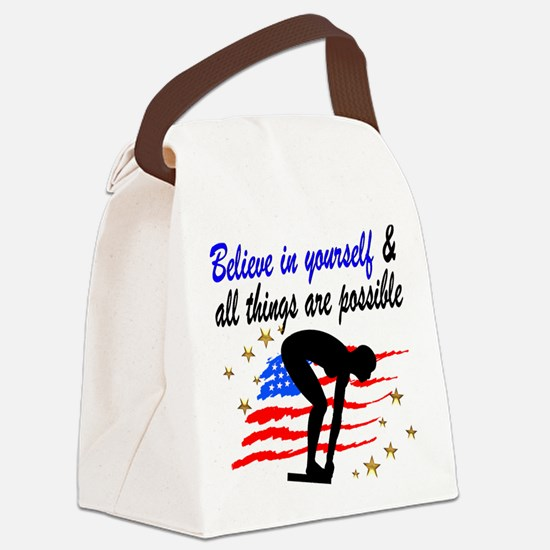 BEST SWIMMER Canvas Lunch Bag