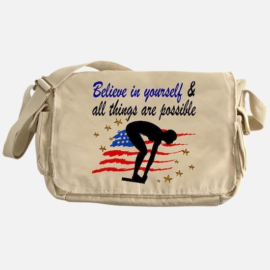 BEST SWIMMER Messenger Bag