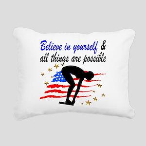 BEST SWIMMER Rectangular Canvas Pillow