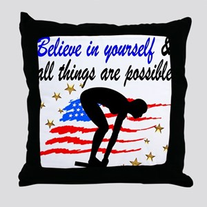 BEST SWIMMER Throw Pillow