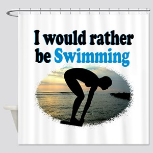 BEST SWIMMER Shower Curtain