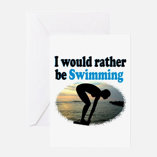 BEST SWIMMER Greeting Card