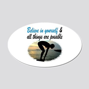 BEST SWIMMER 20x12 Oval Wall Decal
