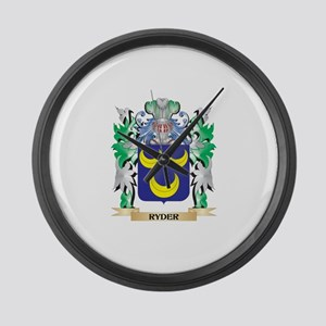 Ryder Coat of Arms - Family Crest Large Wall Clock