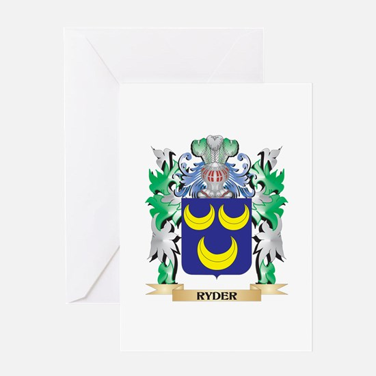 Ryder Coat of Arms - Family Crest Greeting Cards