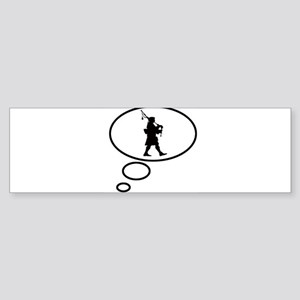 Thinking of Bagpipes Bumper Sticker