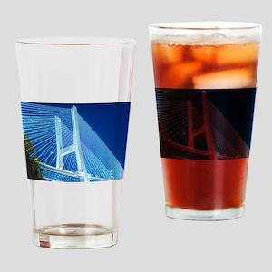 Bridge at night - lighted Drinking Glass