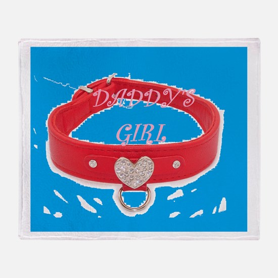 Daddy's Girl (torquoise) Throw Blanket