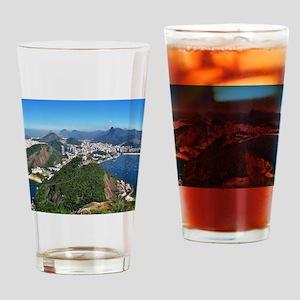 Beautiful Rio de Janeiro mountains Drinking Glass