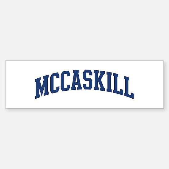 MCCASKILL design (blue) Bumper Bumper Bumper Sticker