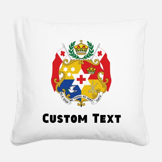 Tonga Coat Of Arms Square Canvas Pillow