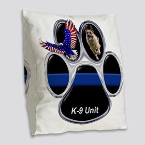 K-9 Unit Burlap Throw Pillow