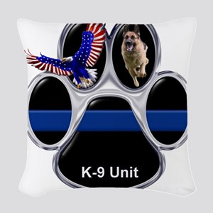 K-9 Unit Woven Throw Pillow