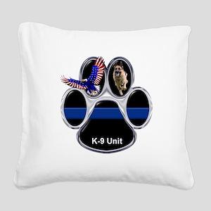 K-9 Unit Square Canvas Pillow