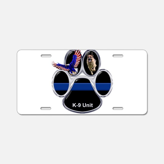 K-9 Unit Aluminum License Plate