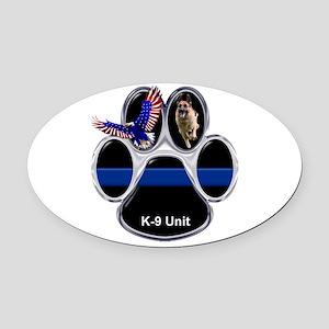 K-9 Unit Oval Car Magnet