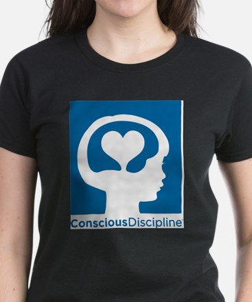 Conscious Discipline stacked logo - blue T-Shirt