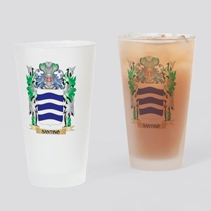 Santino Coat of Arms - Family Crest Drinking Glass